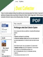perhitungan Untuk Dust Collector System