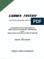 Johnstone Carmen Fantasy SOLO CELLO