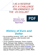 Euro as a Reserve Currency