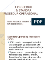Standar Prosedur Minimal & Standar Prosedur Operasional