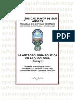 LA ANTROPOLOGÍA POLÍTICA EN ARQUEOLOGÍA