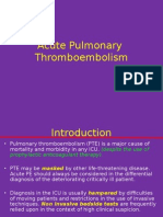 Acute Pulmonary Thromboembolism