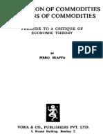 Sraffa - Production of Commodities