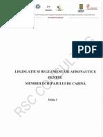 1.a. Legislatie Si Reglementari Aeronautice Pentru Membrii Echipajului de Cabina