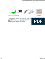 Angina Frequency Linked to Depression, Anxiety