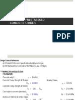 Design of Prestressed Concrete Girder