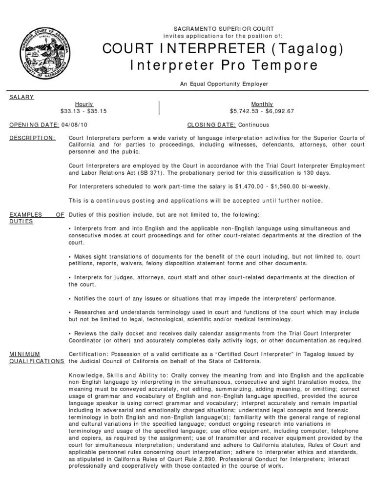 California Courts Language Interpretation Government Information