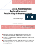 Certificates, Certification Authorities and Public-Key Infrastructures