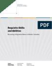 464 Requisite Skills Abilities
