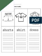 English Worksheet 2 (Rewrite the Words)