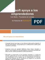 Microsoft Apoya a Los Emprendedores
