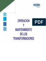 Operación y Mtto a Transformadores WEG