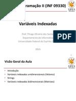 Aula 10 - ProgII- Variaveis Indexadas