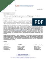 BCAP Comments on MT Adoption of 2009 IECC