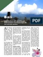 Bali, eine Urlaubsinsel mit viel Charme