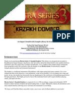 Plectra Series 3 - Kazakh Dombra