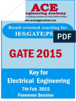 Gate 2015 Solution
