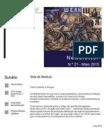 Newsletter CAMMP n.º 21 de maio de 2015