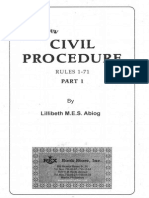 Civil Procedure by Lillibeth Abiog