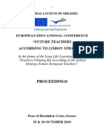 """PROCEEDINGS OF THE EUROPEAN EDUCATIONAL CONFERENCE """"FUTURE TEACHERS ACCORDING TO LISBON STRATEGY"""""""