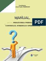 Manual pregatire psihologica si control stres operational