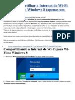 Como Compartilhar a Internet de Wi