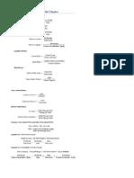 Financial Equation Sheet