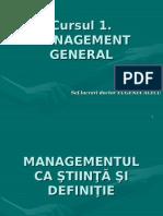 Curs 1- Management General
