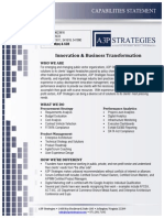 A3P Strategies - Innovation & Business Transformation - Capabilities Statement