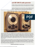 Hewlett-Packard HP-200CD Audio Generator