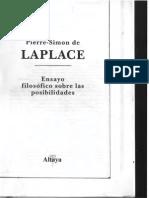 Laplace Pierre Simon de - Ensayo Filosofico de La Teoria de Probabilidades