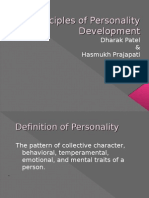 Notes - Principles of Personality Development