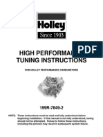 Holley Carburettors High Performance Tuning