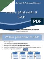 Aula 07 - Passos Para Criar a EAP
