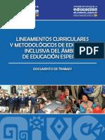 Lineamientos Curriculares y Metodolgicos de La Educacin Inclusiva Del Rea de La Educacin Espe