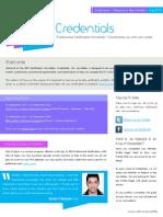 Credentials 2013 August
