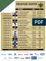 2013 Saints Schedule