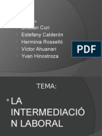 Intermediación Laboral
