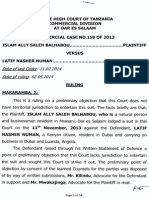 Islam Ally Saleh Balhabou...Plaintiff vs Latif Nasher Numan.....Defendant Commercial Case No.159 of 2013 Ruling Hon.makaramba,j