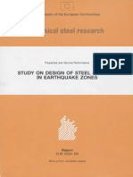 Study on Design of Steel Building in Earthquake Zones