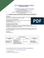 Glomerulopatias. Enfoque Clinico Patologico. Revista de La Sociedad de Medicina Interna
