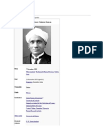 C v Raman and His Contributions