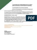 BUSINESSPEOPLE, Lancement de l'Activité Intérim