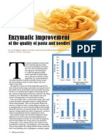 Enzymatic improvement of the quality of pasta and noodles