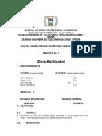 informe DIODO RECTIFICADOR