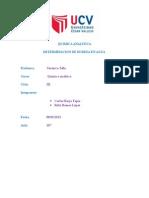 Informe de Agua Qimica Analitica Informe de Agua Qimica Analitica