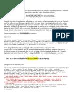Bordering Text BI Publisher
