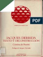 De Peretti Cristina - Jacques Derrida - Texto y Deconstruccion