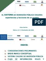 El Sistema de Inversión Pública Chileno Experiencias y Lecciones de Un Modelo