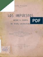 Emilio Frugoni - Los Impuestos Desde El Punto de Vista Sociológico